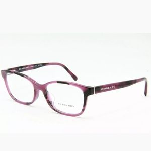 NEW BURBERRY B 2201 3519 PURPLE HAVANA